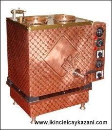 Elektrikli Çay Kazanı Bakır İşlemeli